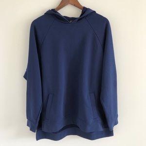 🆕 Nike Dri-Fit Side Slit Pullover Blue Hoodie XL